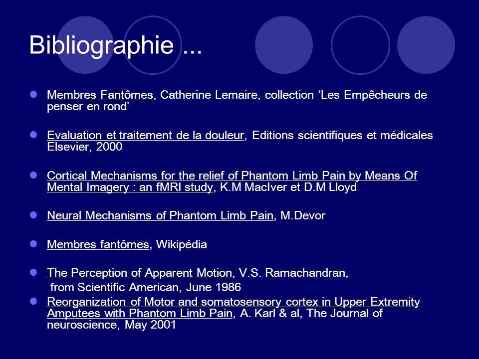 Bibliographie... Membres Fantômes, Catherine Lemaire, collection Les Empêcheurs de penser en rond Evaluation et traitement de la douleur, Editions sci