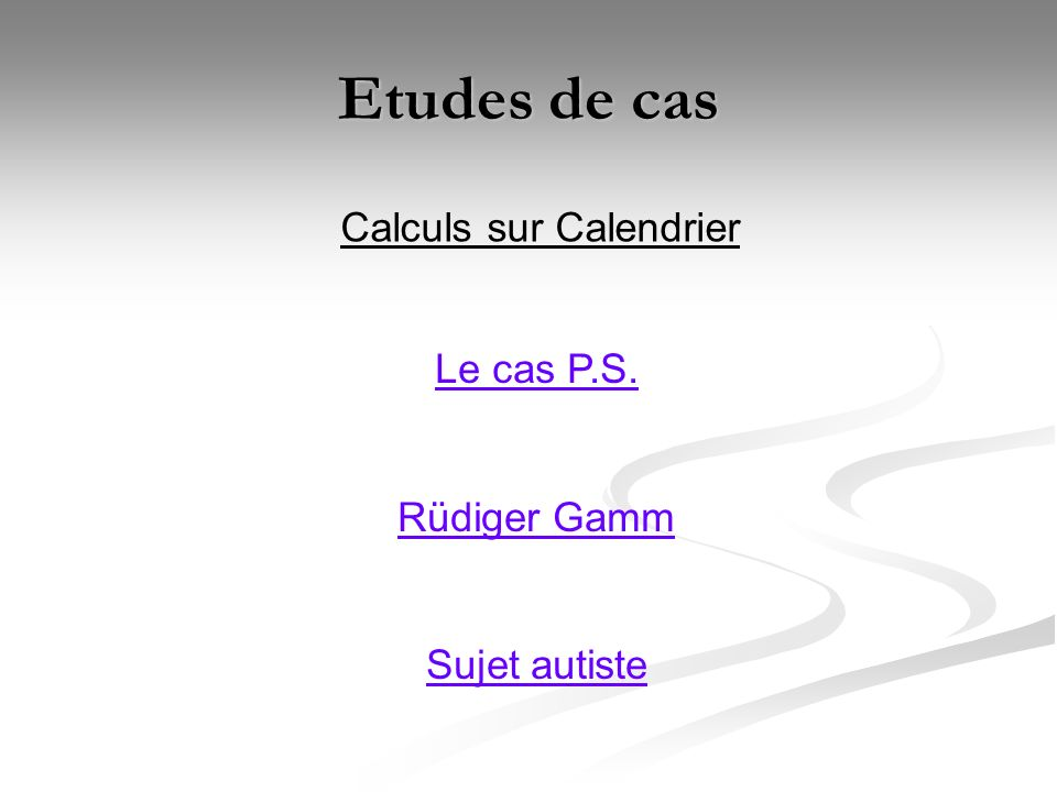 Calendriers : P.S.