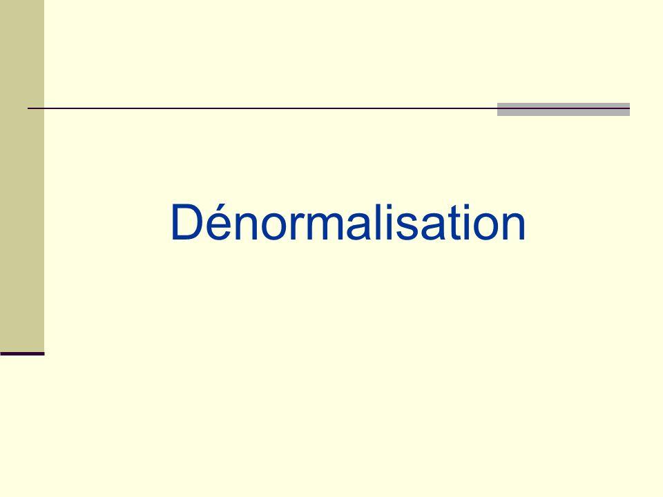 Dénormalisation