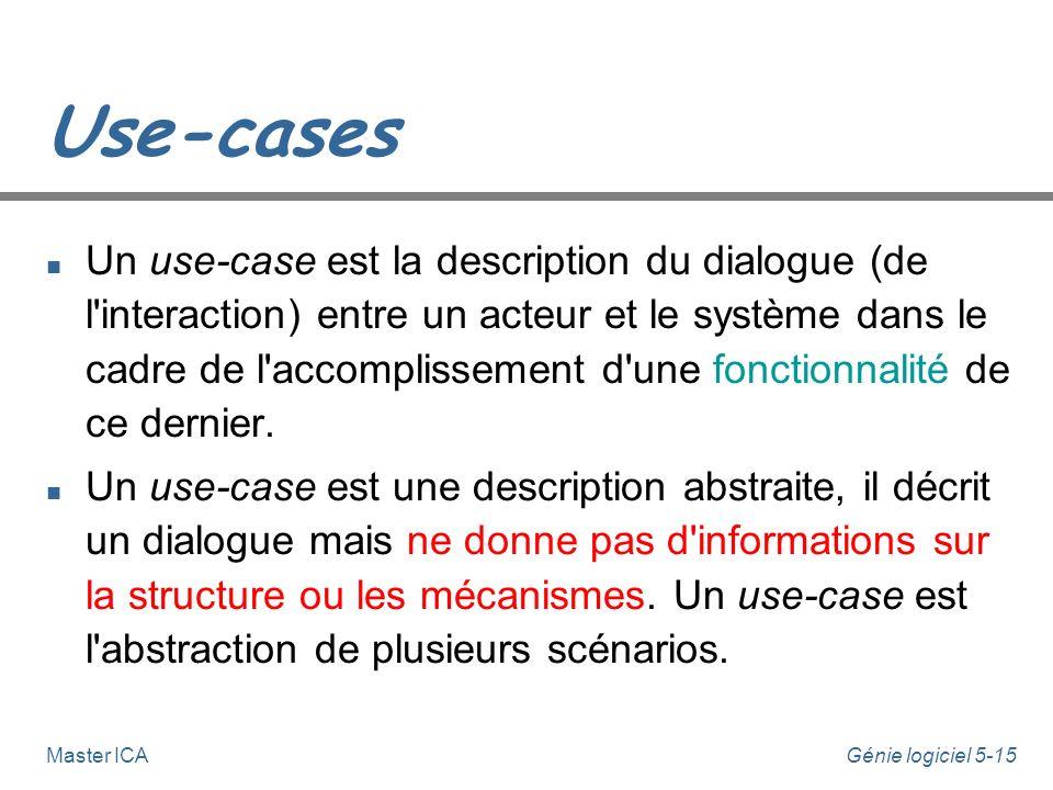 Génie logiciel 5-14Master ICA Use-cases