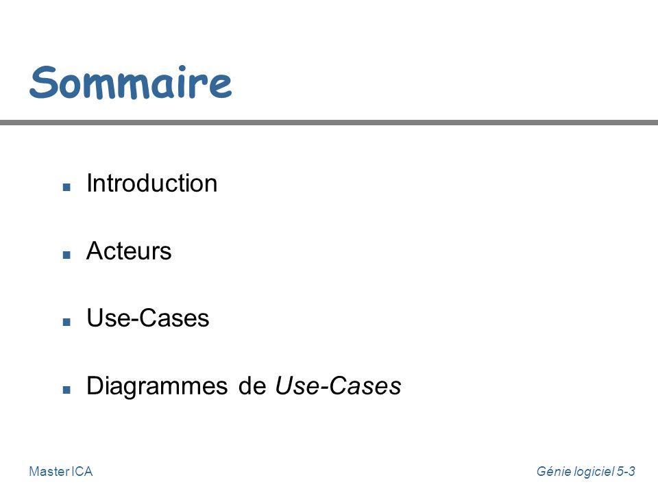 Daniel.Bardou@upmf-grenoble.fr Julie.Dugdale@upmf-grenoble.fr Génie Logiciel 5 UML Modèle des Use-Cases