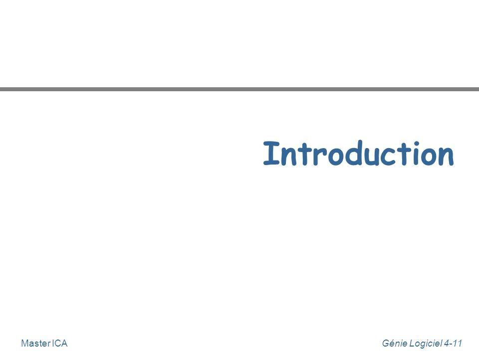 Génie Logiciel 4-10Master ICA Sommaire - Modélisation dynamique n Introduction n Diagrammes dynamiques de description générique u notions fondamentale