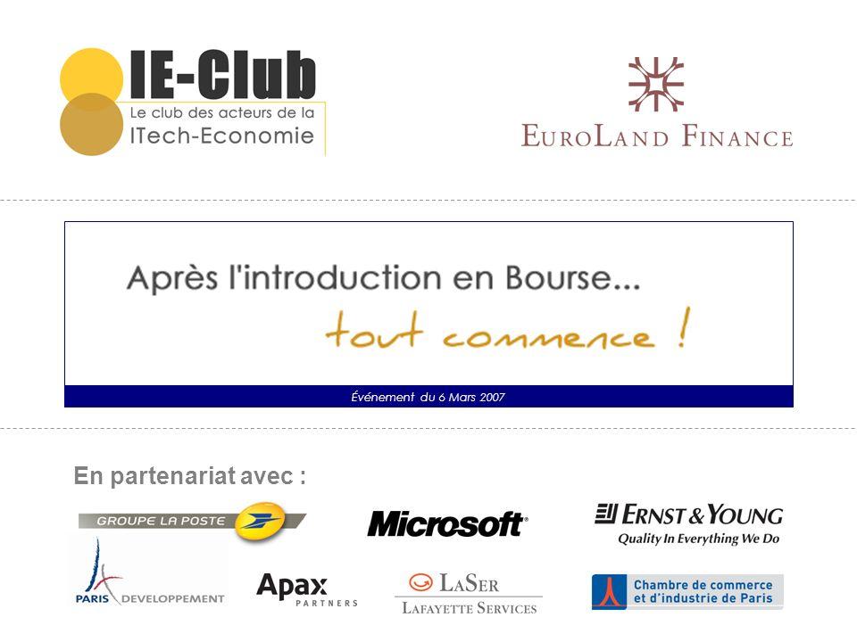 Introduction Franck SEBAG Associé Ernst&Young Membre Exécutif de lIE-Club