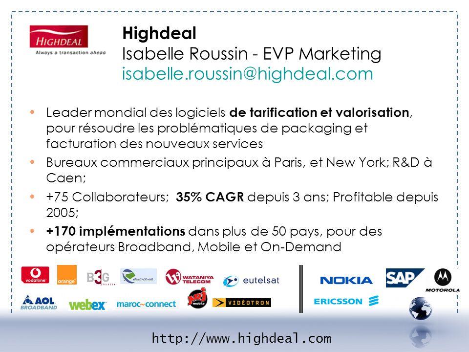 IGHDEAL 1 Leader mondial des logiciels de tarification et valorisation, pour résoudre les problématiques de packaging et facturation des nouveaux serv