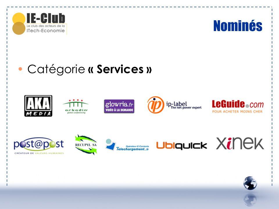 Nominés Catégorie « Services »