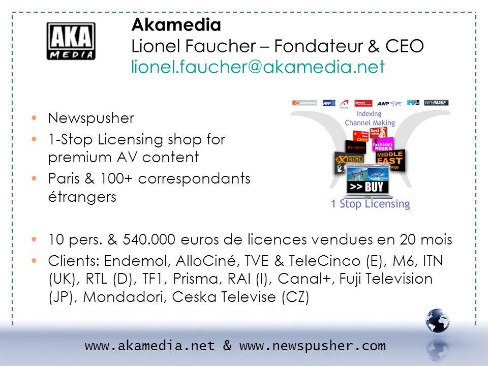 Newspusher 1-Stop Licensing shop for premium AV content Paris & 100+ correspondants étrangers 10 pers. & 540.000 euros de licences vendues en 20 mois