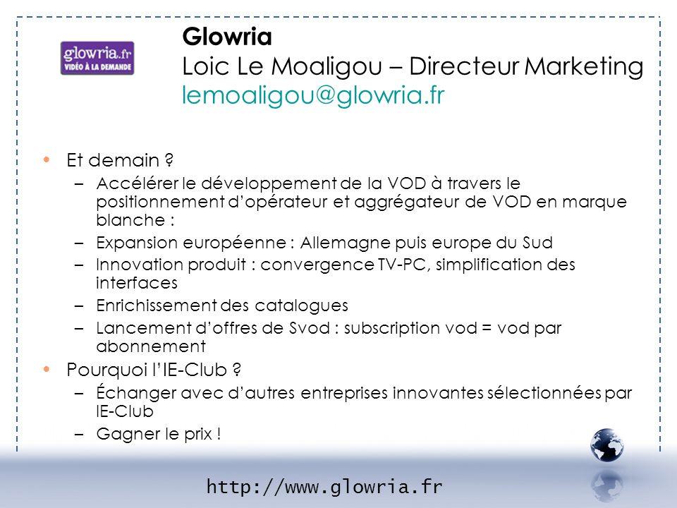 Et demain ? –Accélérer le développement de la VOD à travers le positionnement dopérateur et aggrégateur de VOD en marque blanche : –Expansion européen