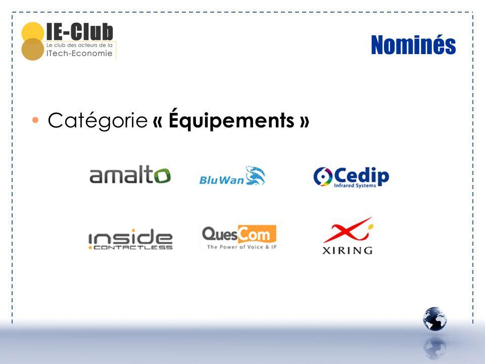 Nominés Catégorie « Équipements »