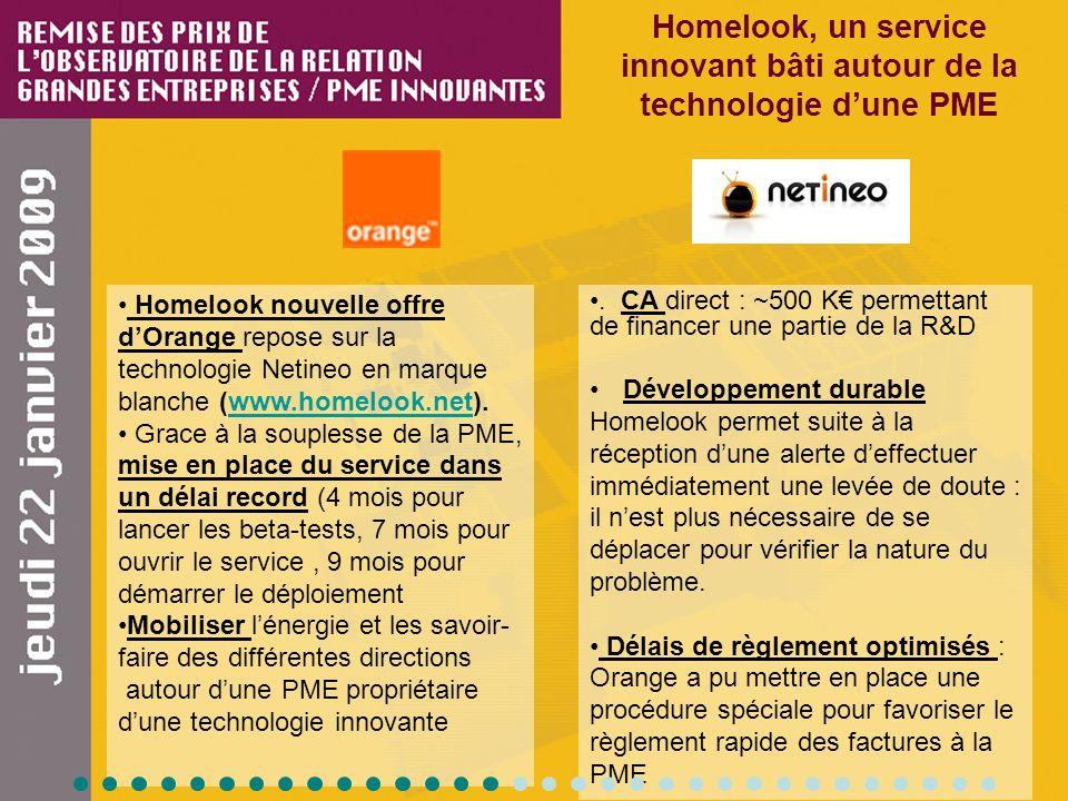Homelook, un service innovant bâti autour de la technologie dune PME Homelook nouvelle offre dOrange repose sur la technologie Netineo en marque blanc