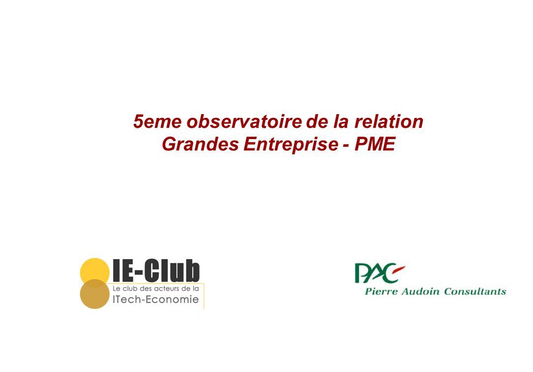 5eme observatoire de la relation Grandes Entreprise - PME