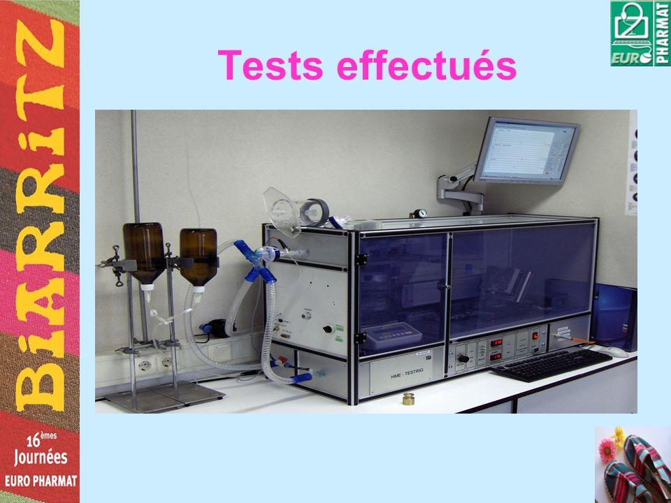 Tests effectués