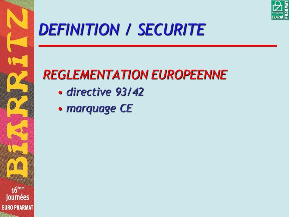 DESCRIPTION du DM DOSSIER TYPE EURO PHARMAT Fabricant identificationidentification certificationcertification matériovigilancematériovigilance proposition de NORMALISATION