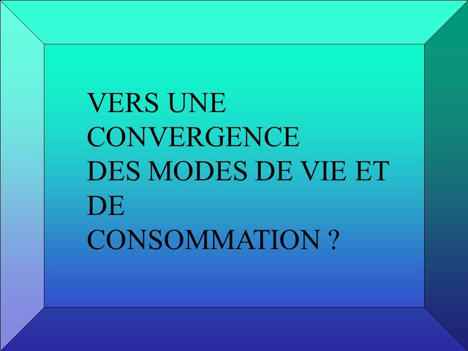 VERS UNE CONVERGENCE DES MODES DE VIE ET DE CONSOMMATION ?