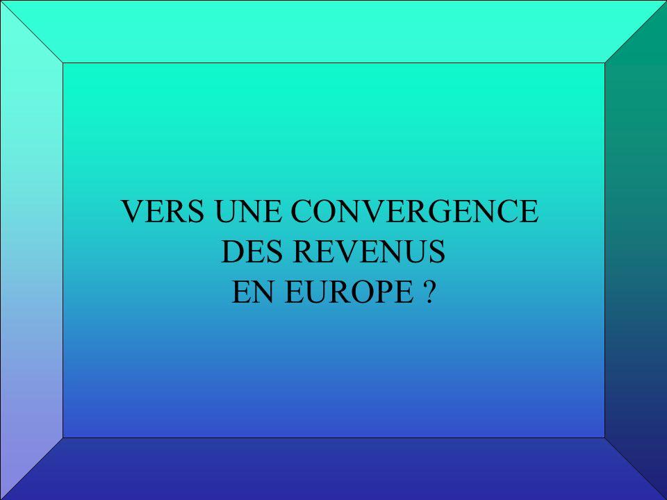 VERS UNE CONVERGENCE DES REVENUS EN EUROPE ?