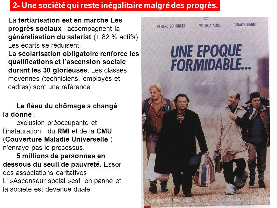 Le fléau du chômage a changé la donne : exclusion préoccupante et linstauration du RMI et de la CMU (Couverture Maladie Universelle ) nenraye pas le p