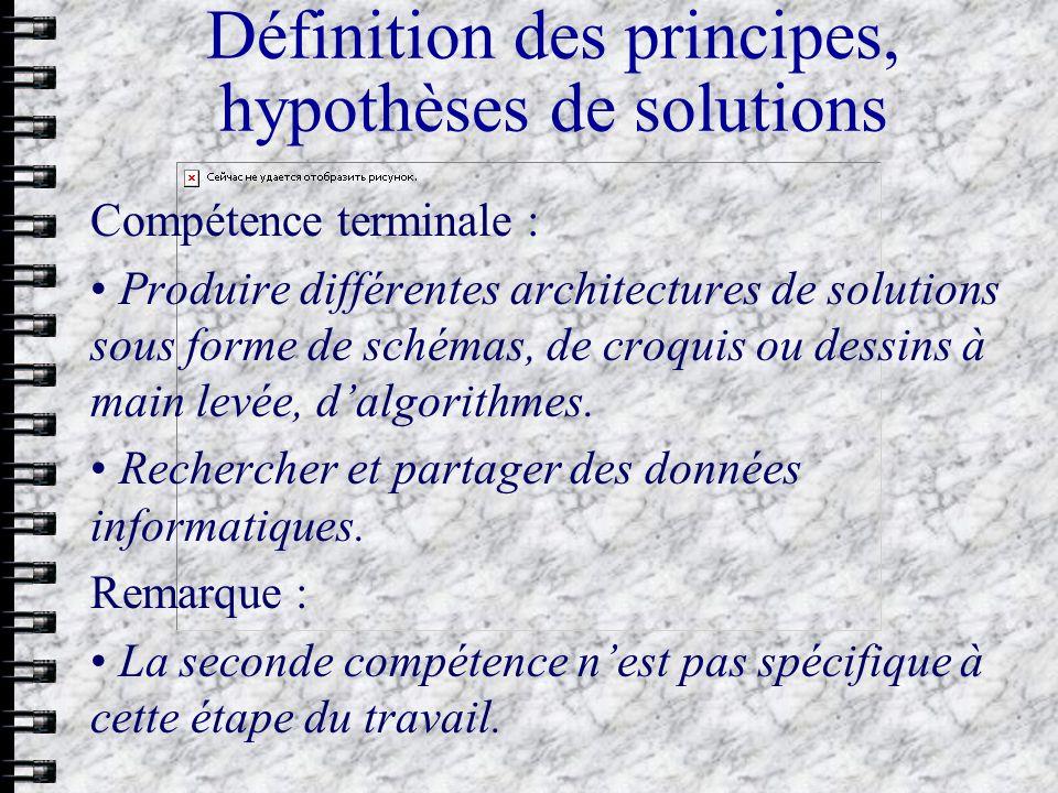 Choix et définition dune solution Evaluer la réponse des solutions proposées au cahier des charges et les comparer.