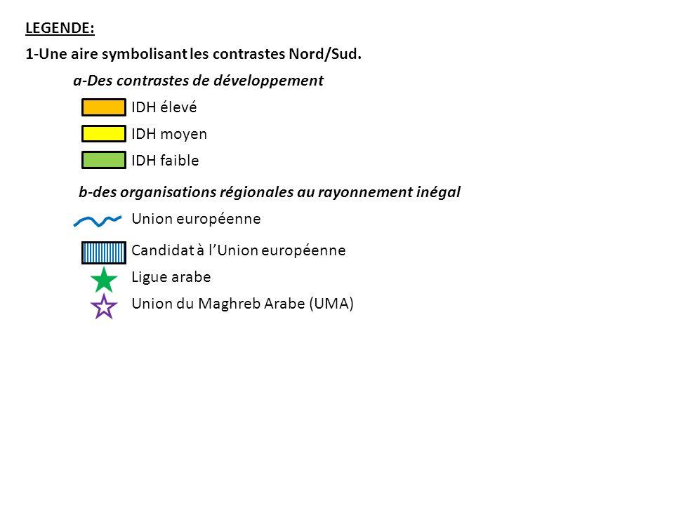 LEGENDE: 2-La Méditerranée, une interface Nord/Sud.