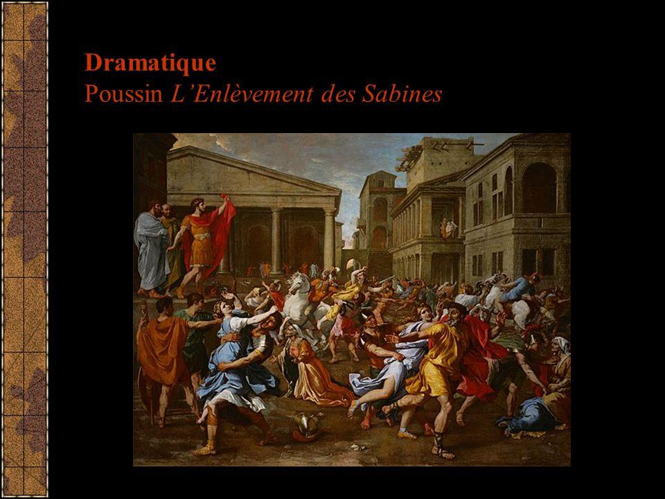 Dramatique Poussin LEnlèvement des Sabines