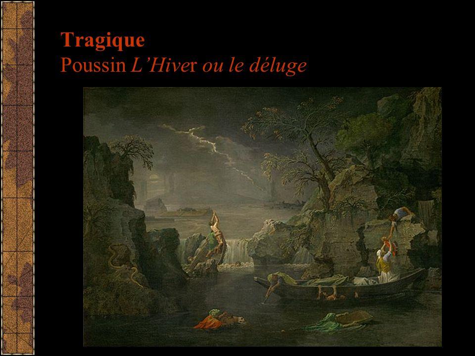 Tragique Poussin LHiver ou le déluge