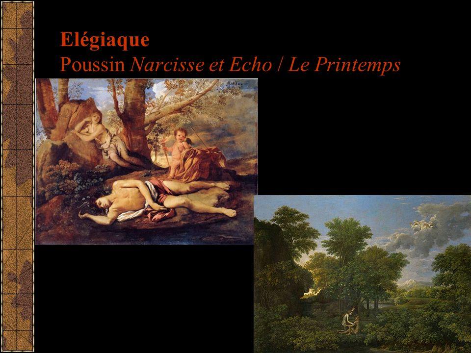 Elégiaque Poussin Narcisse et Echo / Le Printemps