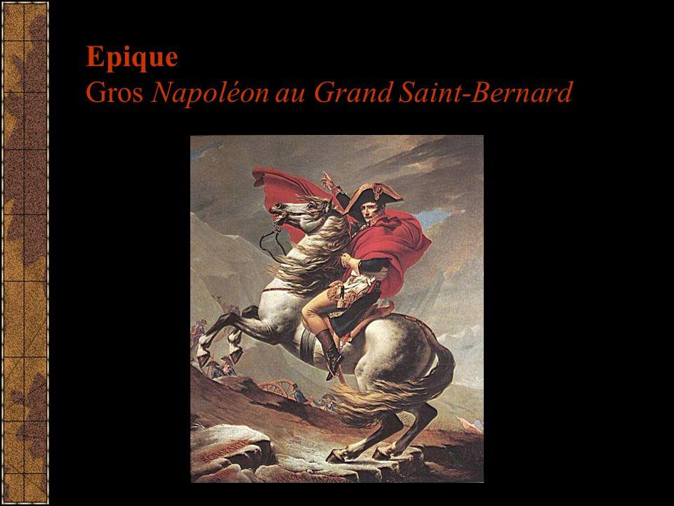 Epique Gros Napoléon au Grand Saint-Bernard