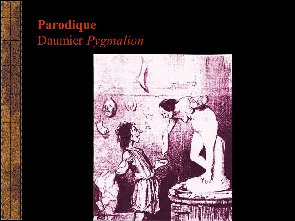 Parodique Daumier Pygmalion