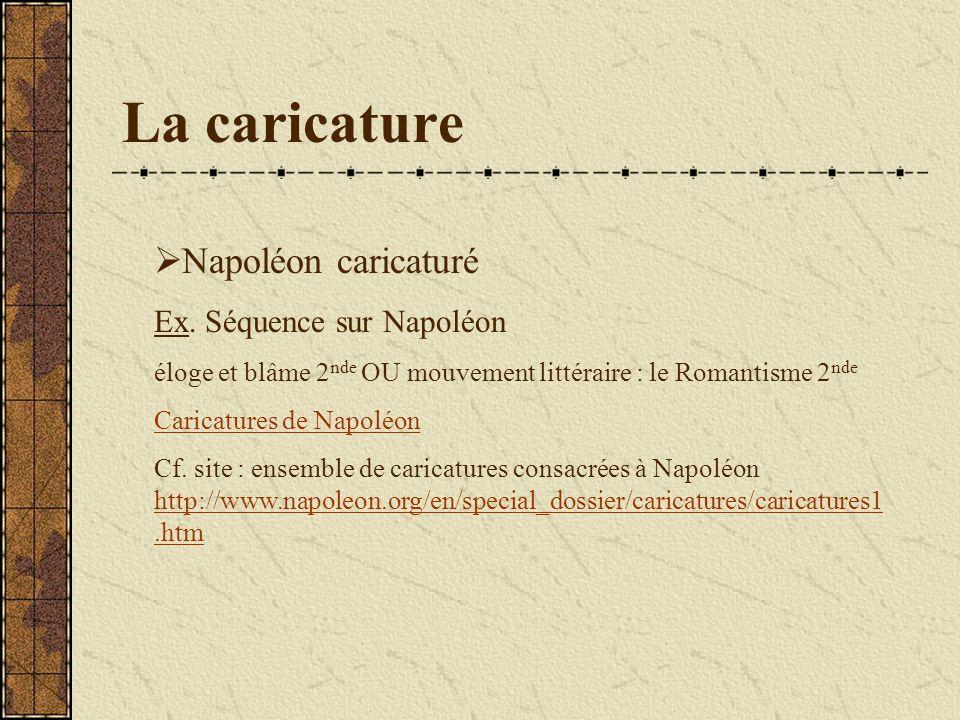 La caricature Napoléon caricaturé Ex.
