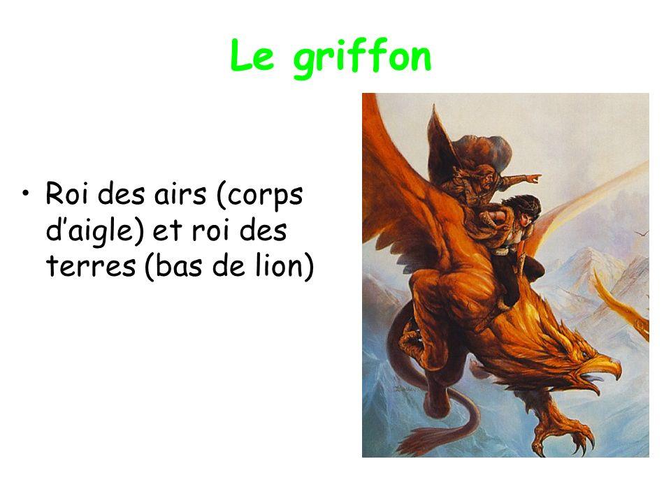 Le griffon Roi des airs (corps daigle) et roi des terres (bas de lion)