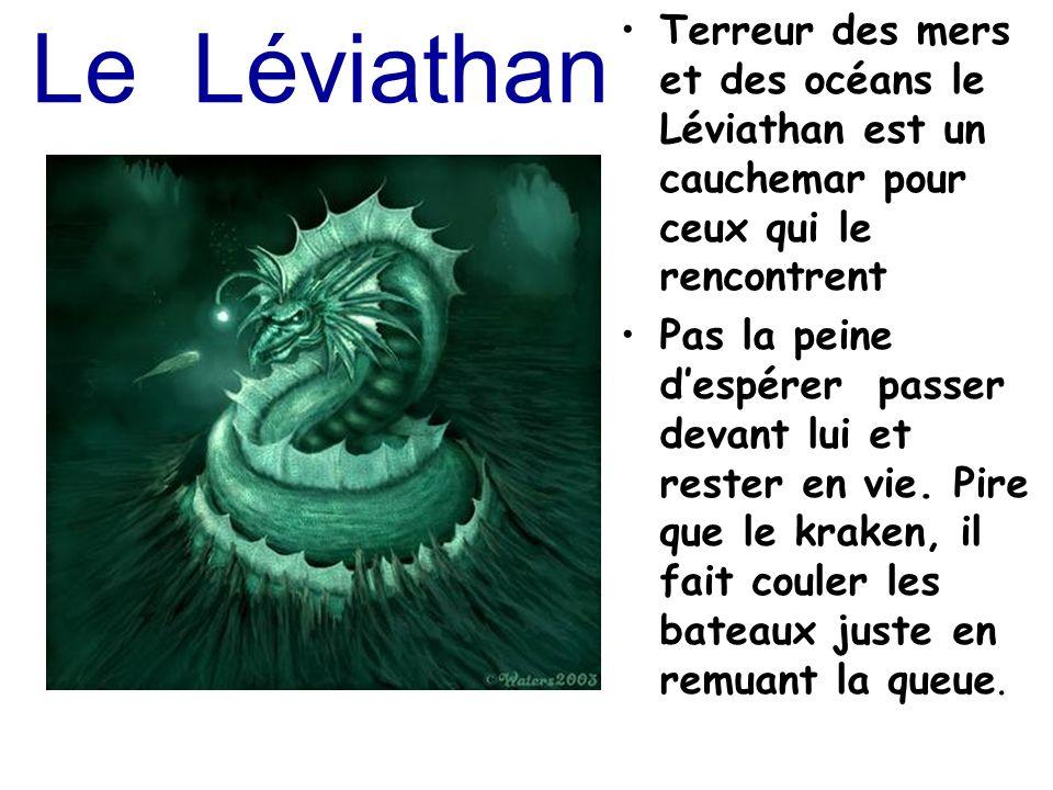 Le Léviathan Terreur des mers et des océans le Léviathan est un cauchemar pour ceux qui le rencontrent Pas la peine despérer passer devant lui et rest