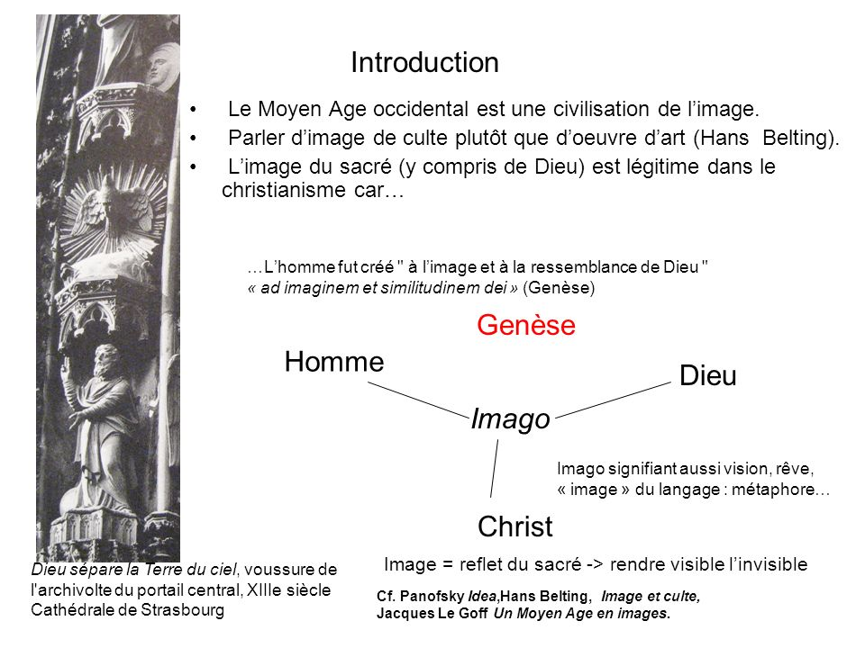 Introduction Le Moyen Age occidental est une civilisation de limage.