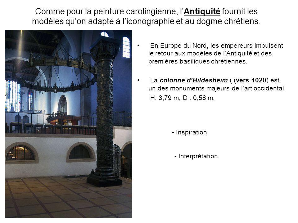 Comme pour la peinture carolingienne, lAntiquité fournit les modèles quon adapte à liconographie et au dogme chrétiens. En Europe du Nord, les empereu