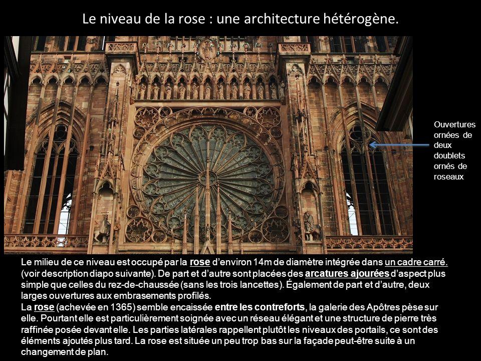 La rose, un des joyaux de la cathédrale de Strasbourg.