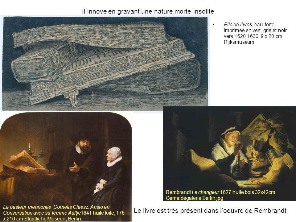 Seghers expérimente les textures pour varier les effets optiques Deux arbres, vers 1620, 15x17 cm encre sur papier et eau forte, imprimé en brun sur papier et coloré à lencre, Rijksmuseum Hercule Seghers est le Peintre et graveur que Rembrandt admire le plus.