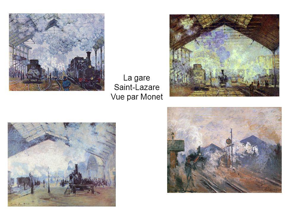 La gare Saint-Lazare Vue par Monet
