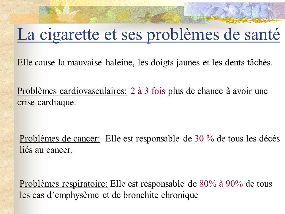 La cigarette 10 000 personnes meurent chaque année au Québec dû à la cigarette.
