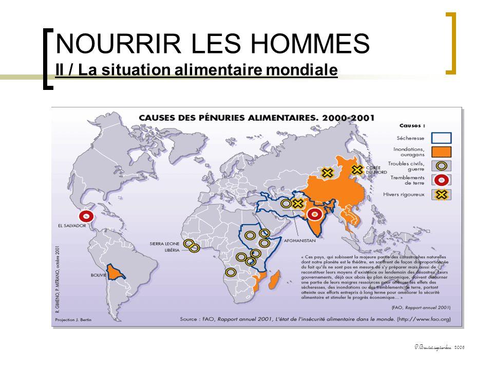 NOURRIR LES HOMMES II / La situation alimentaire mondiale P.Boutet.septembre 2006