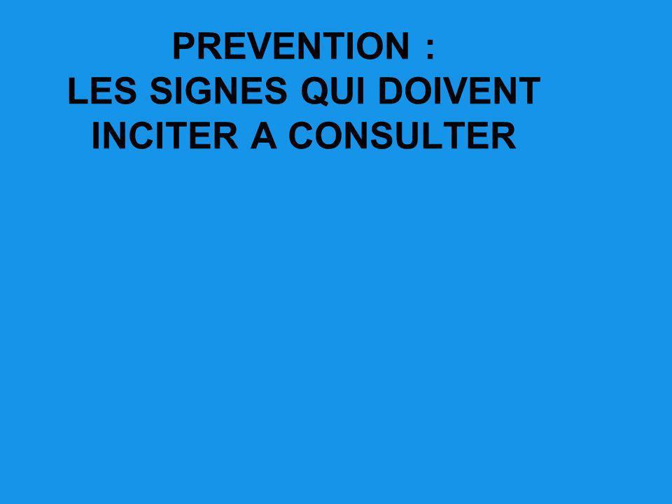 PREVENTION : LES SIGNES QUI DOIVENT INCITER A CONSULTER
