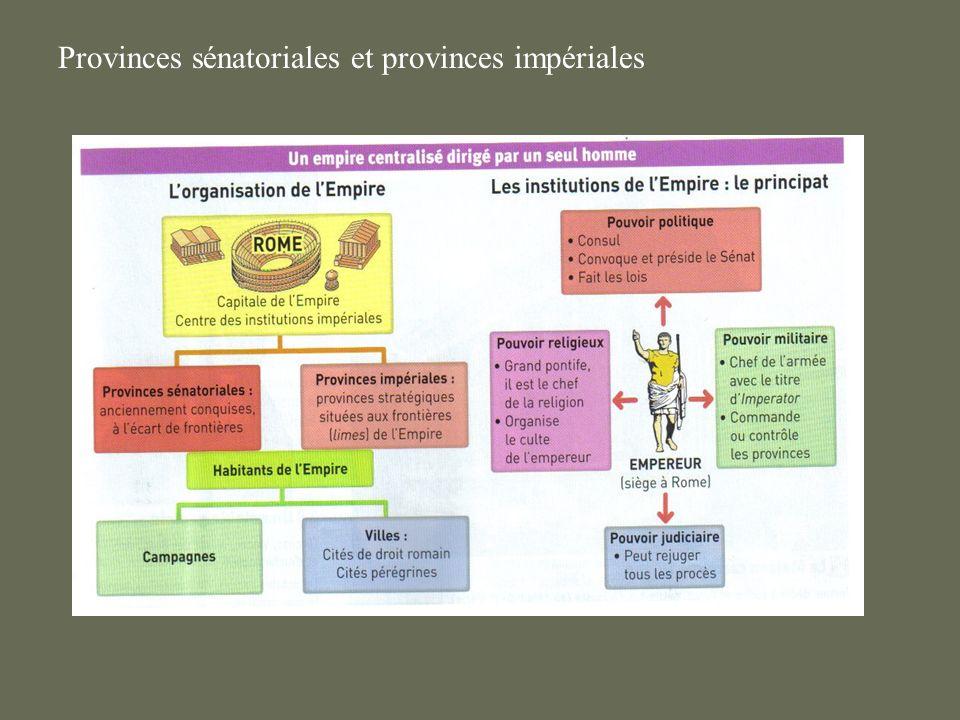 Provinces sénatoriales et provinces impériales