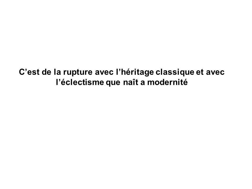 En France Eugène Viollet le Duc (1814-1879) sélève contre léclectisme EN architecture, il y a si je puis dire deux façons dêtre vrai…selon le programme, selon les procédés de construction..