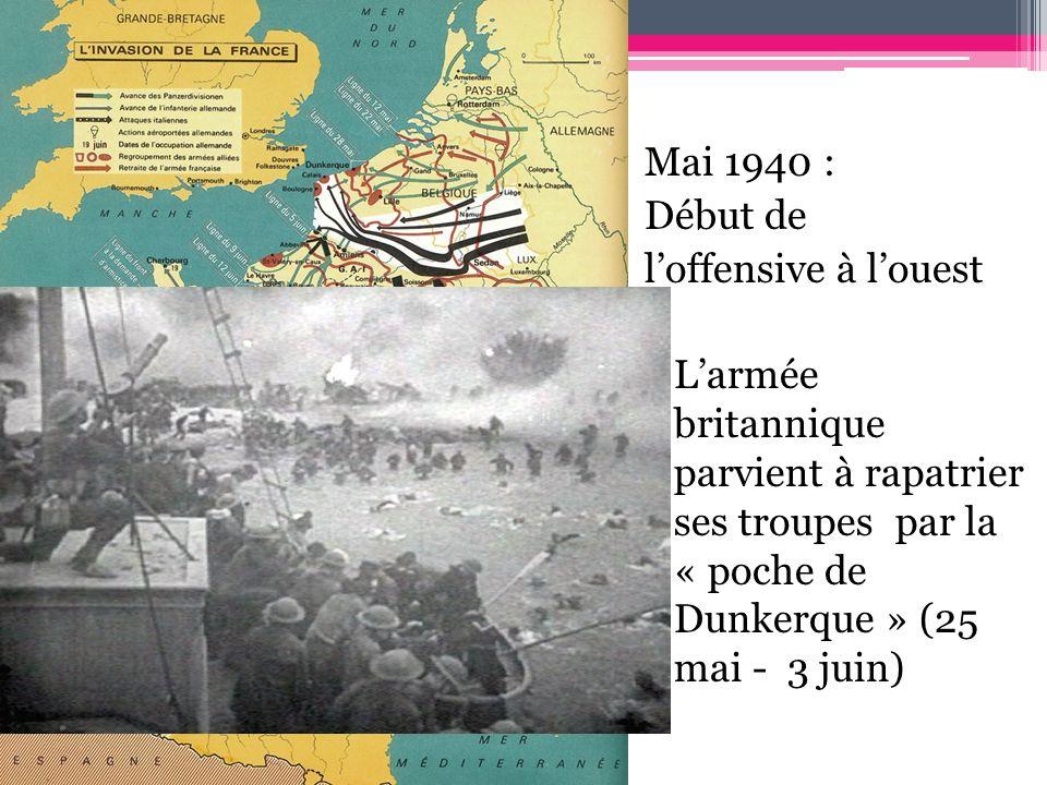 Le 14 Juin l armée allemande est à Paris Le 23 Juin Hitler est à Paris 22/6/1940: Armistice de la France