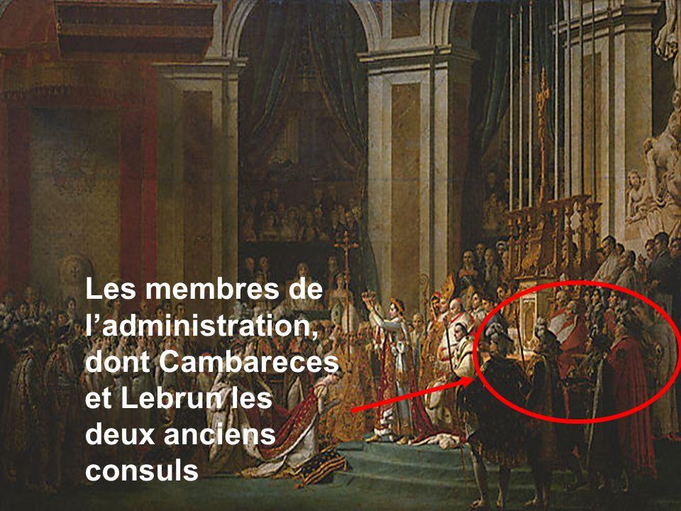 Les membres de ladministration, dont Cambareces et Lebrun les deux anciens consuls