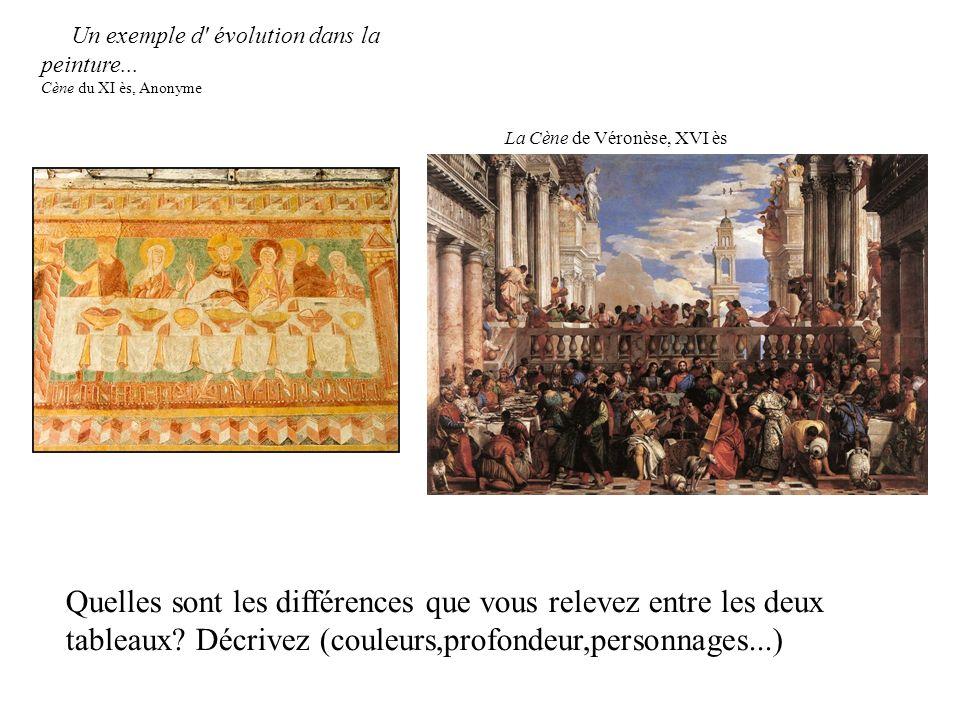 Quelles sont les différences que vous relevez entre les deux tableaux? Décrivez (couleurs,profondeur,personnages...) La Cène de Véronèse, XVI ès Un ex