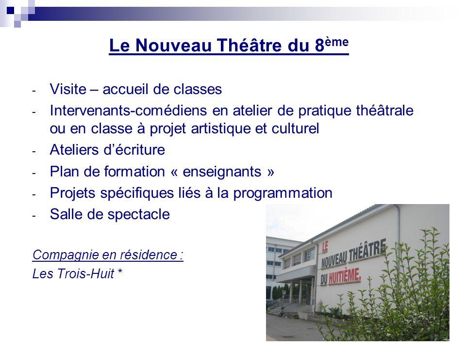 La Maison de la Danse - Visite – accueil de classes - Ateliers du matin - Vidéo-conférences - Spectacles « scolaires » - Parcours Enseignants - Intervenants atelier danse - Studio pour les spectacles
