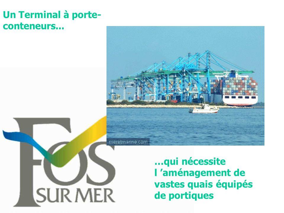 Un Terminal à porte- conteneurs... …qui nécessite l aménagement de vastes quais équipés de portiques