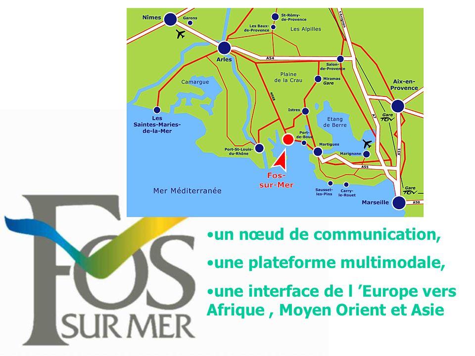 un nœud de communication, une plateforme multimodale, une interface de l Europe vers Afrique, Moyen Orient et Asie