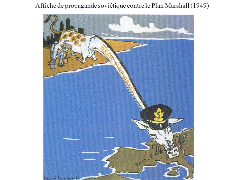 Affiche de propagande soviétique contre le Plan Marshall (1949)