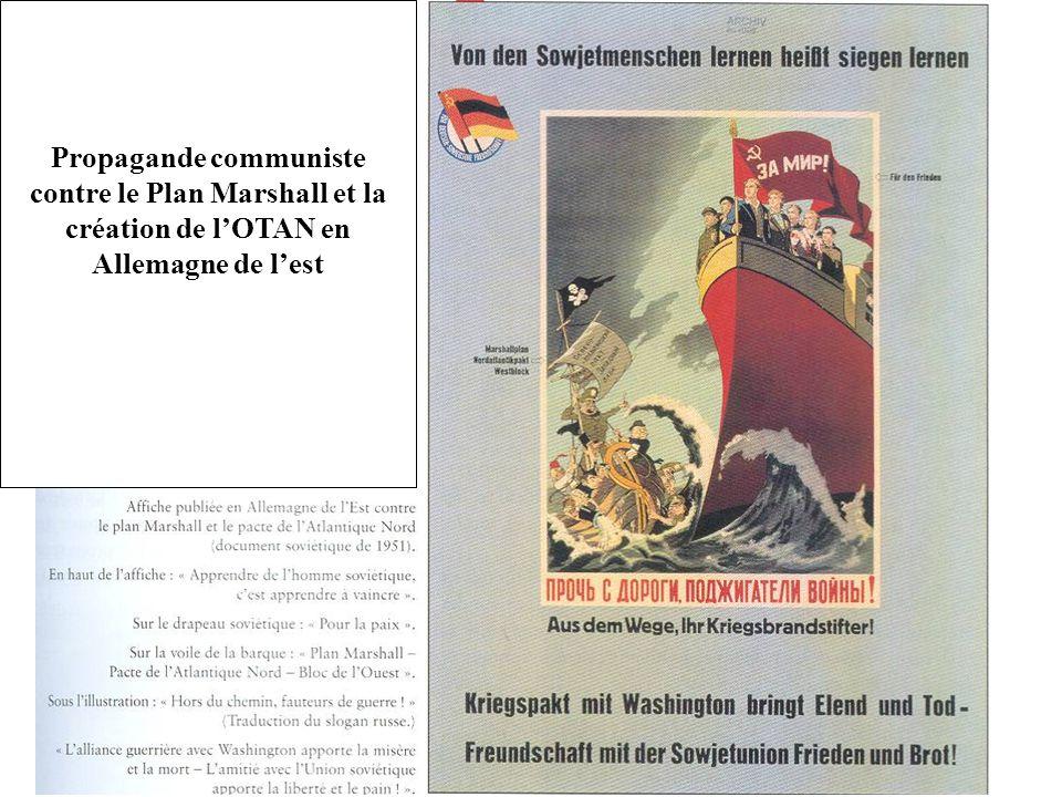 Propagande communiste contre le Plan Marshall et la création de lOTAN en Allemagne de lest