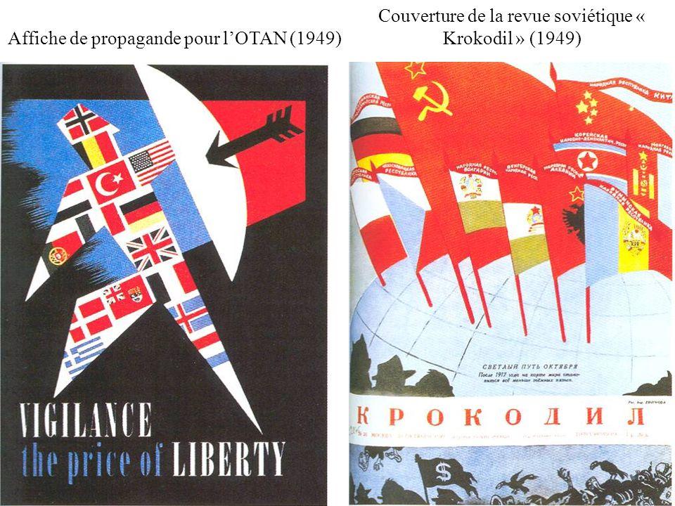 Affiche de propagande pour lOTAN (1949) Couverture de la revue soviétique « Krokodil » (1949)