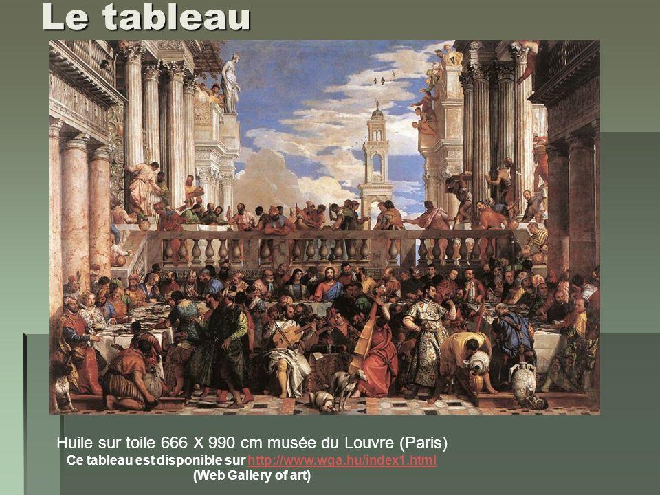 Le thème du tableau: extrait de l Evangile de Saint Jean (2, 1-12) « Le troisième jour, il y eut des noces à Cana de Galilée.
