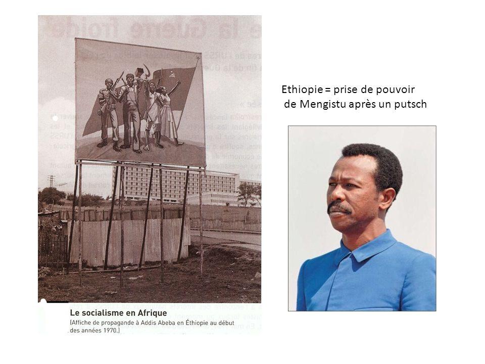 Ethiopie = prise de pouvoir de Mengistu après un putsch
